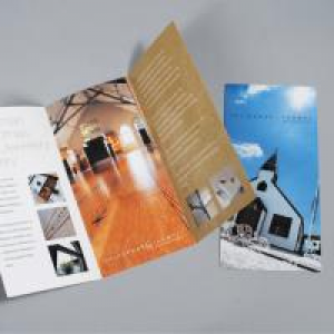 UKM Professional 200gsm Silk Folded Leaflet