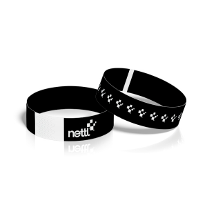 Printed Black Paper Wristbands
