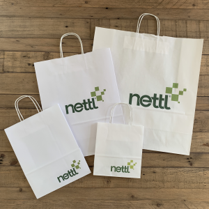 Twist Handled Printed Paper Bags