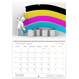 Wire-O-Bound Booklet Wall Calendar