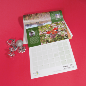 100gsm Recycled 14 Mth Calendars : 2 Pages Per Mth