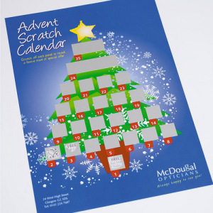 240gsm Advent Scratch Calendar