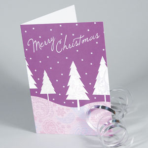 400gsm Matt Laminated Christmas Cards