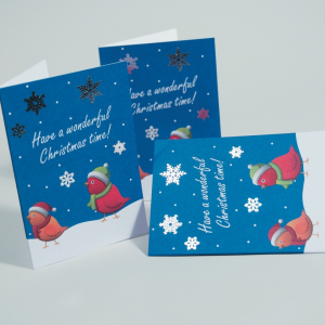 300gsm Uncoated Foiled Christmas Cards