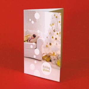 Cartes de Noël avec coupon détachable