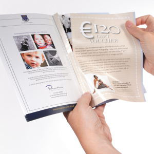 A5 Geperforeerde Voucher Brochures