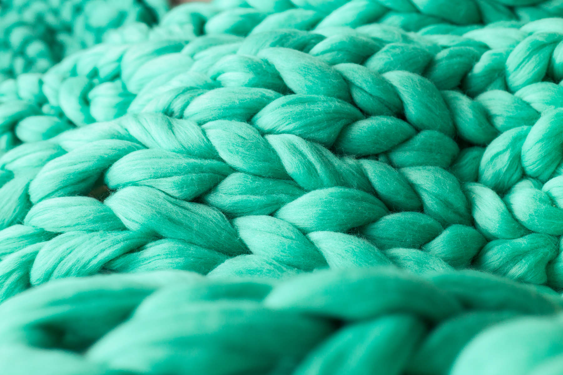 Close-up of knitted blanket