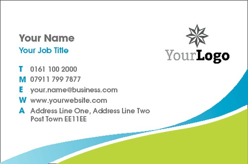 Online print templates printing business card green blue swoosh collection reheart Gallery