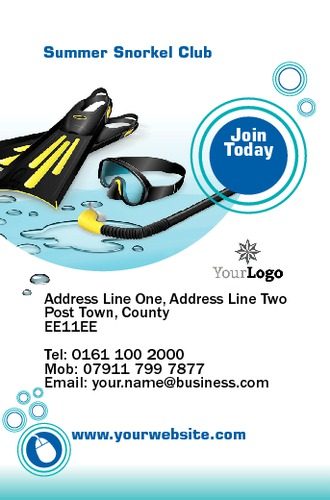 Swimming Pool Business Card By Neil Watson Sane Design