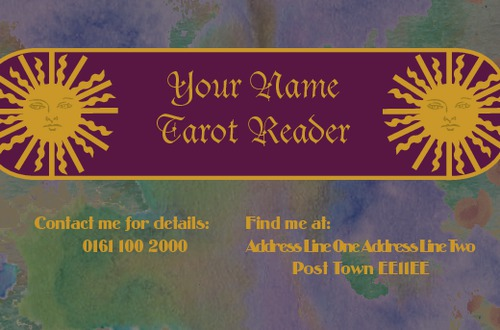Tarot Visiting Cards Designs