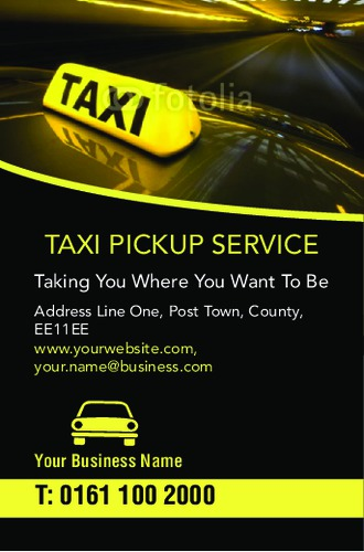 Taxi Business Card By Rebecca Doherty Sane Design