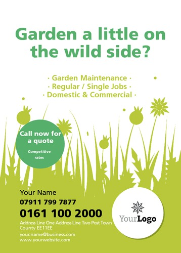 Online print templates for Garden maintenance flyer template
