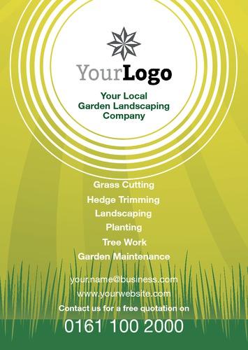Garden Maintenance A5 Flyers by Peter Stewart | Sane Design