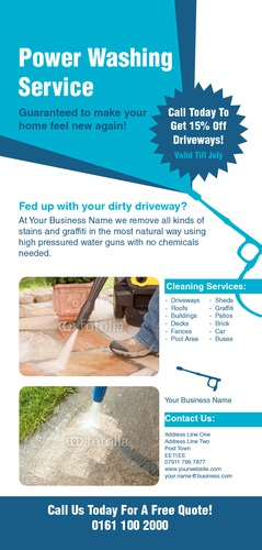 Cleaning 1/3rd A4 Flyers by Rebecca Doherty