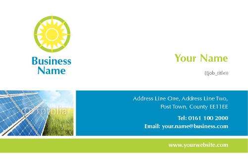 Solar panels business card by paul wongsam sane design solar panels business card reheart