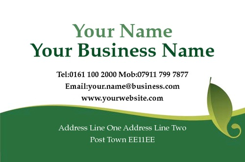 Online print templates printingcom for Gardening business cards
