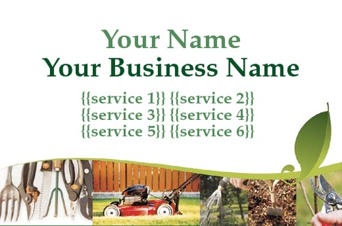 Online print templates printing garden maintenance business card accmission Image collections