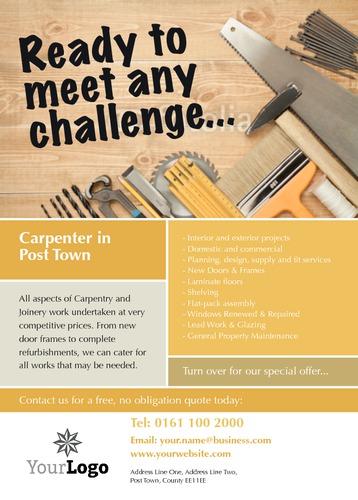 Carpenters A6 Leaflets by Paul Wongsam