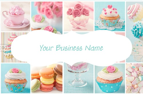 Online print templates printing bakery business card reheart Gallery