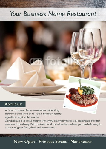 Restaurant A5 Flyers by Ro Do