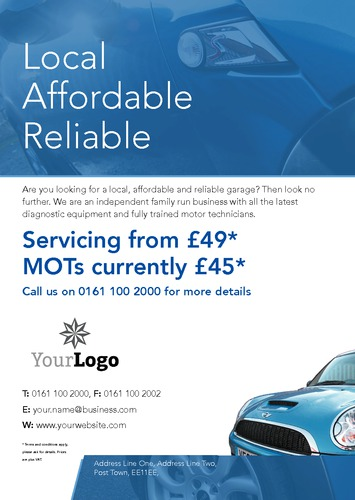 Garage Services A5 Leaflets