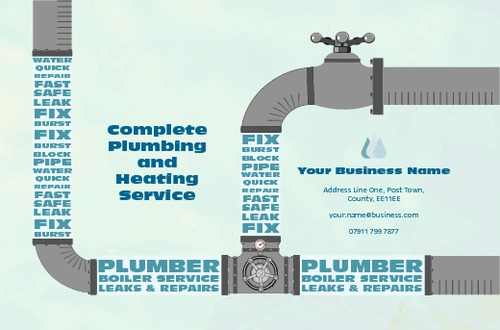 Plumber Business Card By Daniel Fischer Sane Design