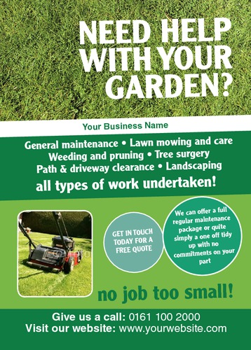 gardening a6 leaflets