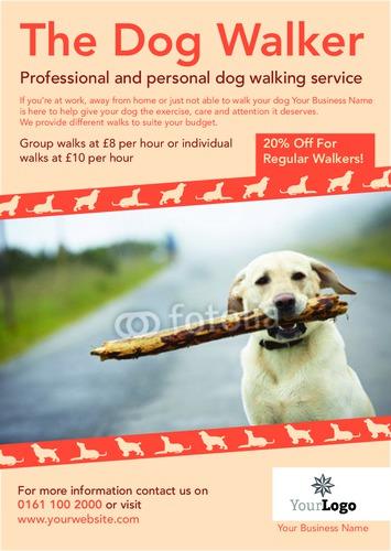 dog walkers a5 leaflets