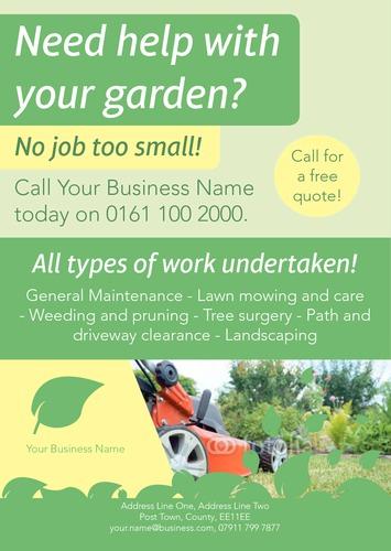 Garden Maintenance A5 Leaflets by Daniel Fischer | Sane Design