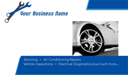 """Garage Services 2"""" x 3.5"""" Business Cards by SC Creative"""