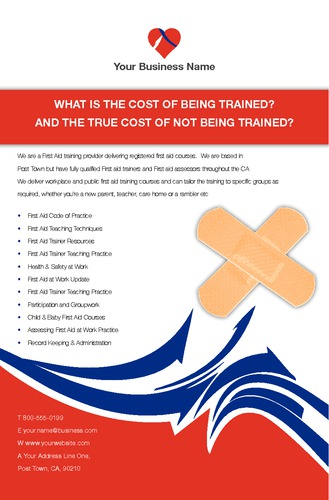 """Education and Training 5.5"""" x 8.5"""" Flyers by Laura Marples"""