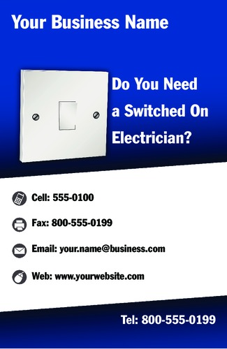 """Electrician 5.5"""" x 8.5"""" Flyers by Neil Watson"""