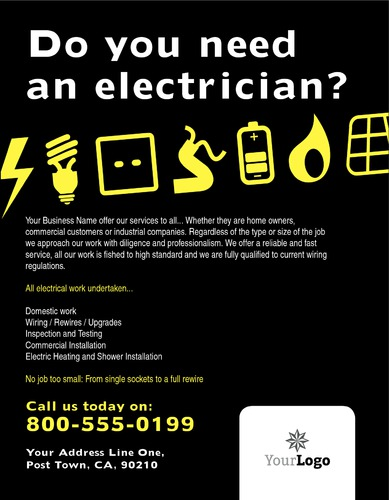 "Electrical 8.5"" x 11"" Flyers by Paul Wongsam"
