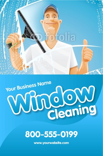 """Window Cleaning 5.5"""" x 8.5"""" Flyers by Edward Augusto"""