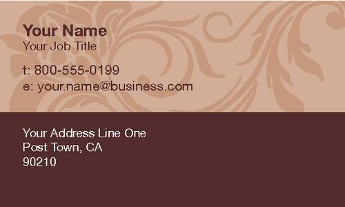 "Beauty Salon 2"" x 3.5"" Business Cards by Ranjit Bhogal"