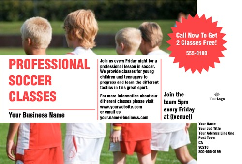 "Soccer 4"" x 6"" Flyers by Rebecca Doherty"