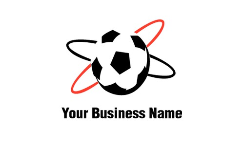 "Soccer 2"" x 3.5"" Business Cards by Rebecca Doherty"