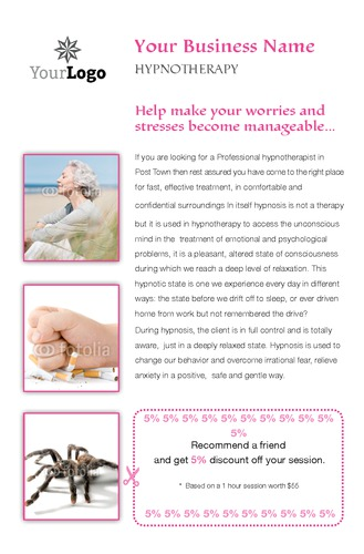 "Hypnotherapy 5.5"" x 8.5"" Flyers by Laura Marples"