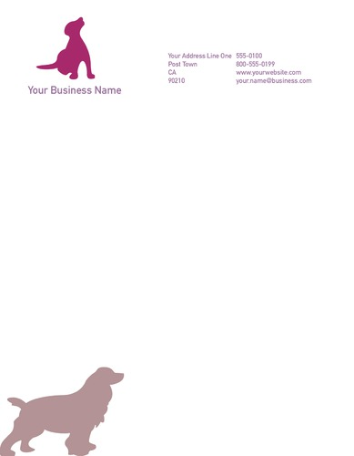 "Dog Care 8.5"" x 11"" Stationery by Rebecca Doherty"