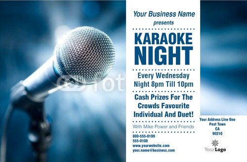"Karaoke 5.5"" x 8.5"" Flyers by Rebecca Doherty"