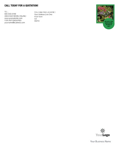 "Lawn Maintenance 8.5"" x 11"" Stationery by C V"