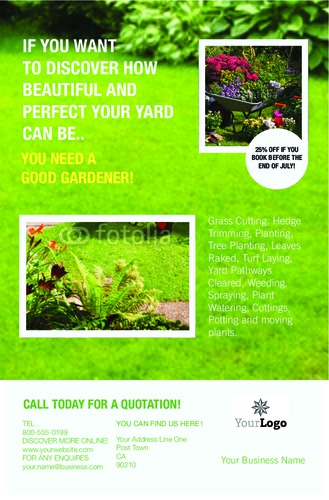 """Lawn Maintenance 5.5"""" x 8.5"""" Flyers by C V"""