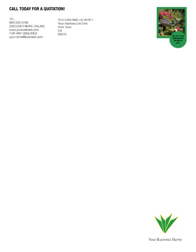 "Lawn Maintenance 8.5"" x 11"" Stationery by C V"