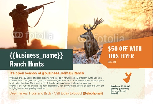 "Hunting 4"" x 6"" Postcards by Ro Do"