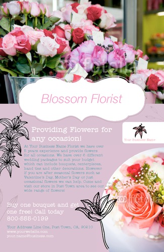 "Florist 4"" x 6"" Flyers by Ro Do"