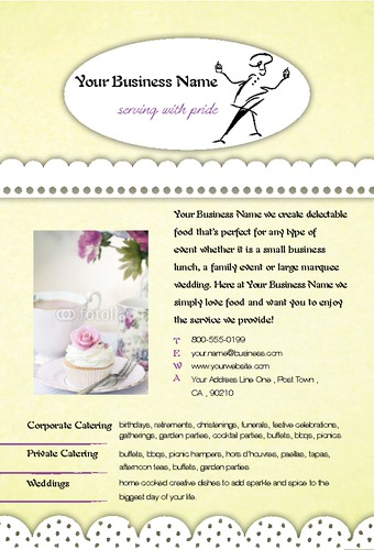 "Catering 4"" x 6"" Flyers by Laura Marples"