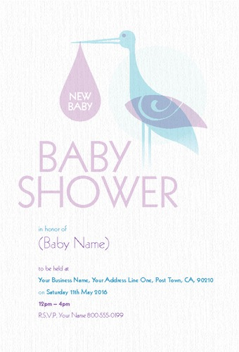 "New Baby 4"" x 6"" Invites by Christopher Heath"