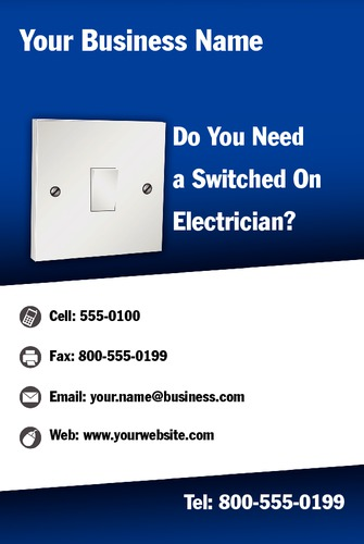 "Electrician 4"" x 6"" Flyers by Neil Watson"