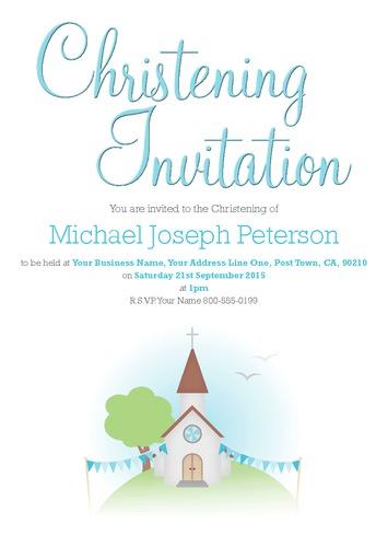"Church 5.5"" x 8.5"" Invitations by Christopher Heath"
