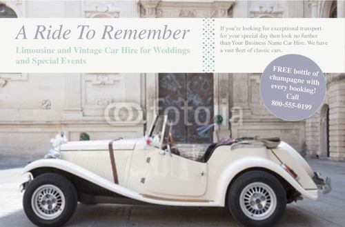 "Car Hire 5.5"" x 8.5"" Flyers by Rebecca Doherty"